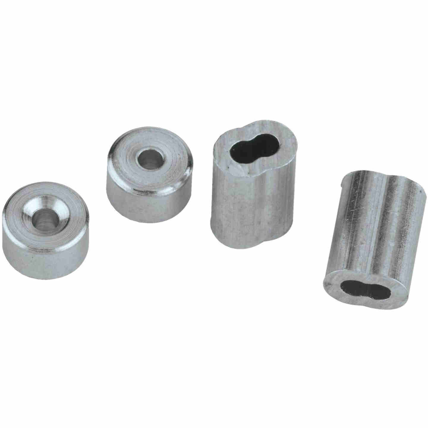 """Prime-Line Cable Ferrules and Stops, 3/32"""", Aluminum Image 3"""