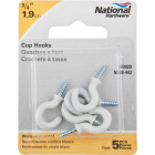 National 3/4 In. White Vinyl Cup Hook (5 Count) Image 2