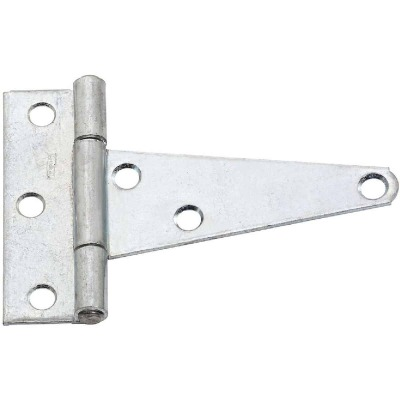 National 4 In. Zinc-Plated Steel Heavy-Duty Tee Hinge (2-Pack)