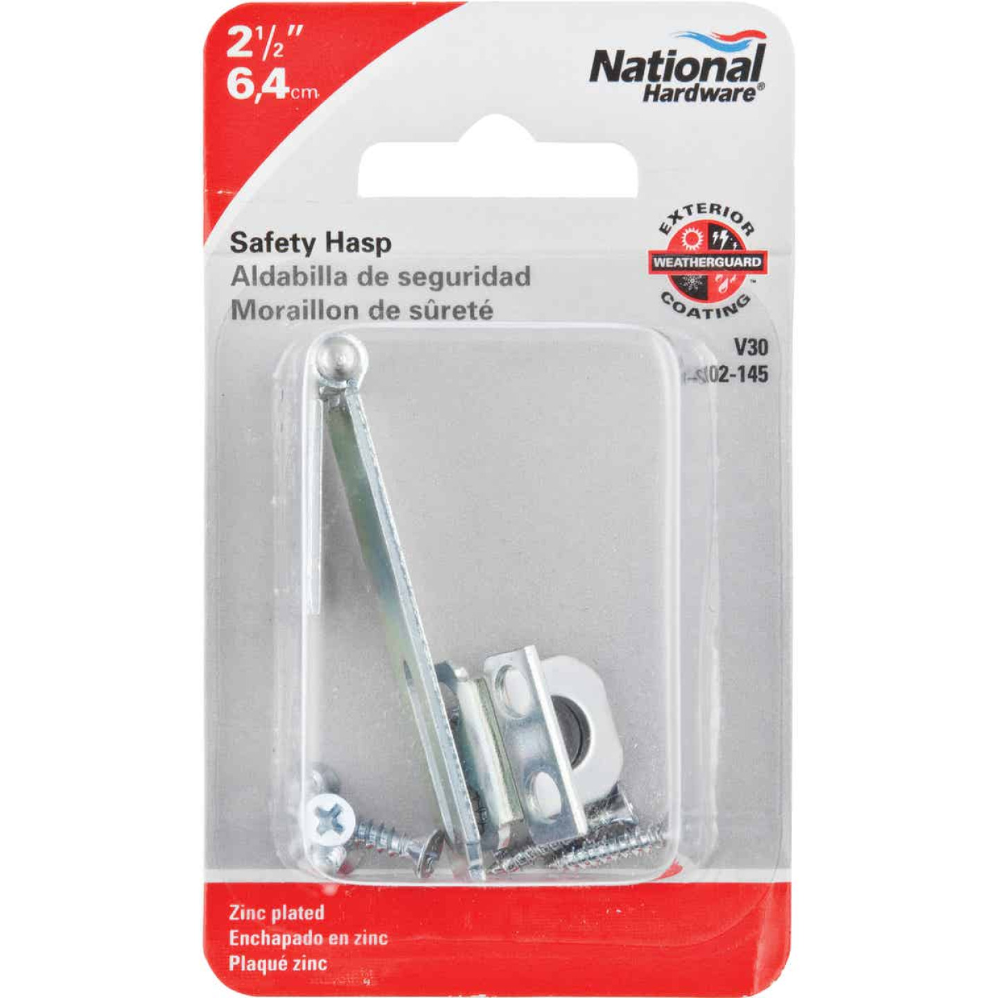 National 2-1/2 In. Zinc Non-Swivel Safety Hasp Image 2