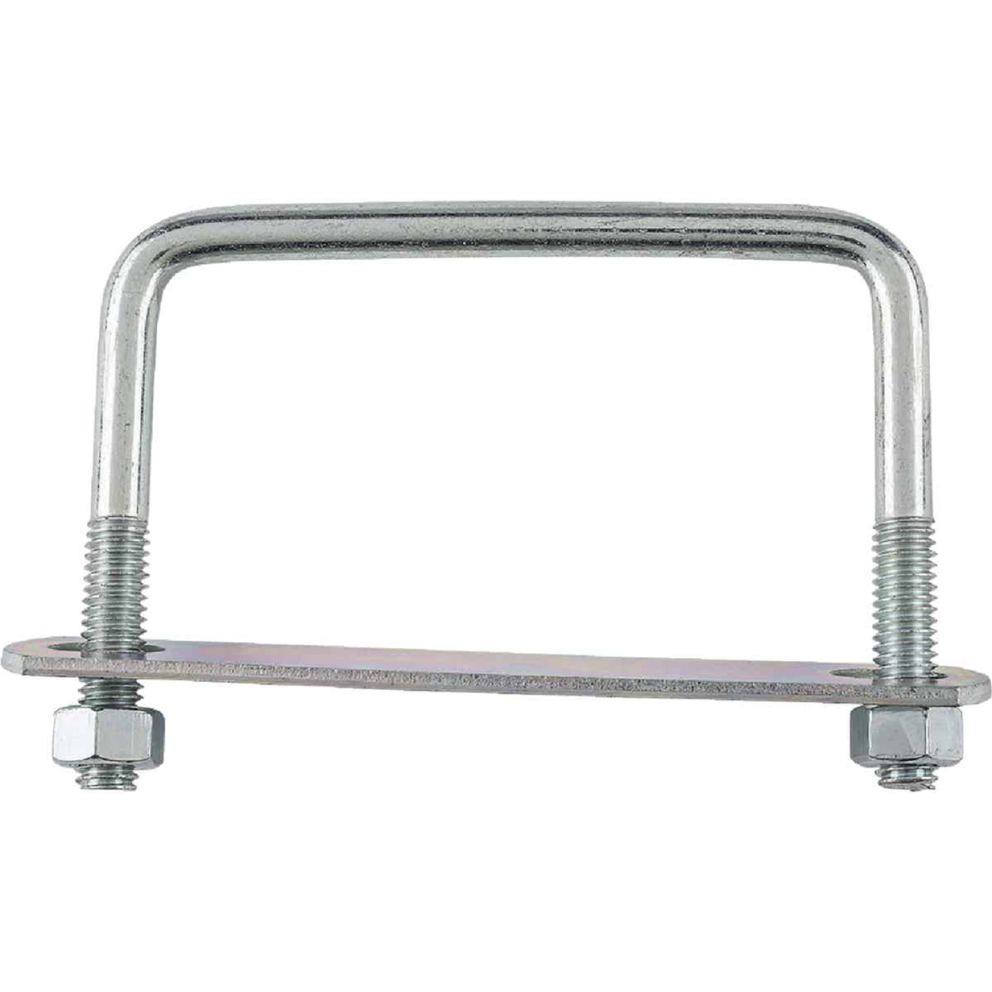 National 3/8 In. x 4 In. x 3 In. Zinc Square U Bolt Image 2