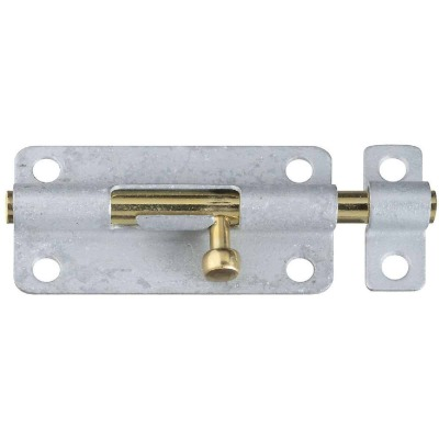 National 4 In. Galvanized Steel Door Barrel Bolt