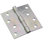 National 4 In. Square Zinc Plated Steel Broad Door Hinge Image 1