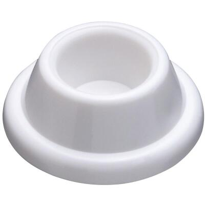 National 237 White Self-Adhesive Wall Door Stop