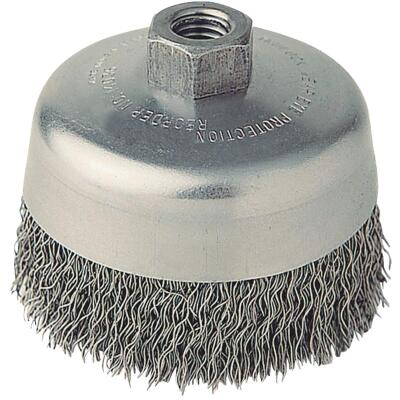 Weiler Vortec 5 In. Crimped 0.02 In. Angle Grinder Wire Brush