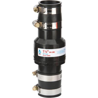 Drainage Industries 1-1/4 In. ABS Thermoplastic In-Line Sump Pump Check Valve