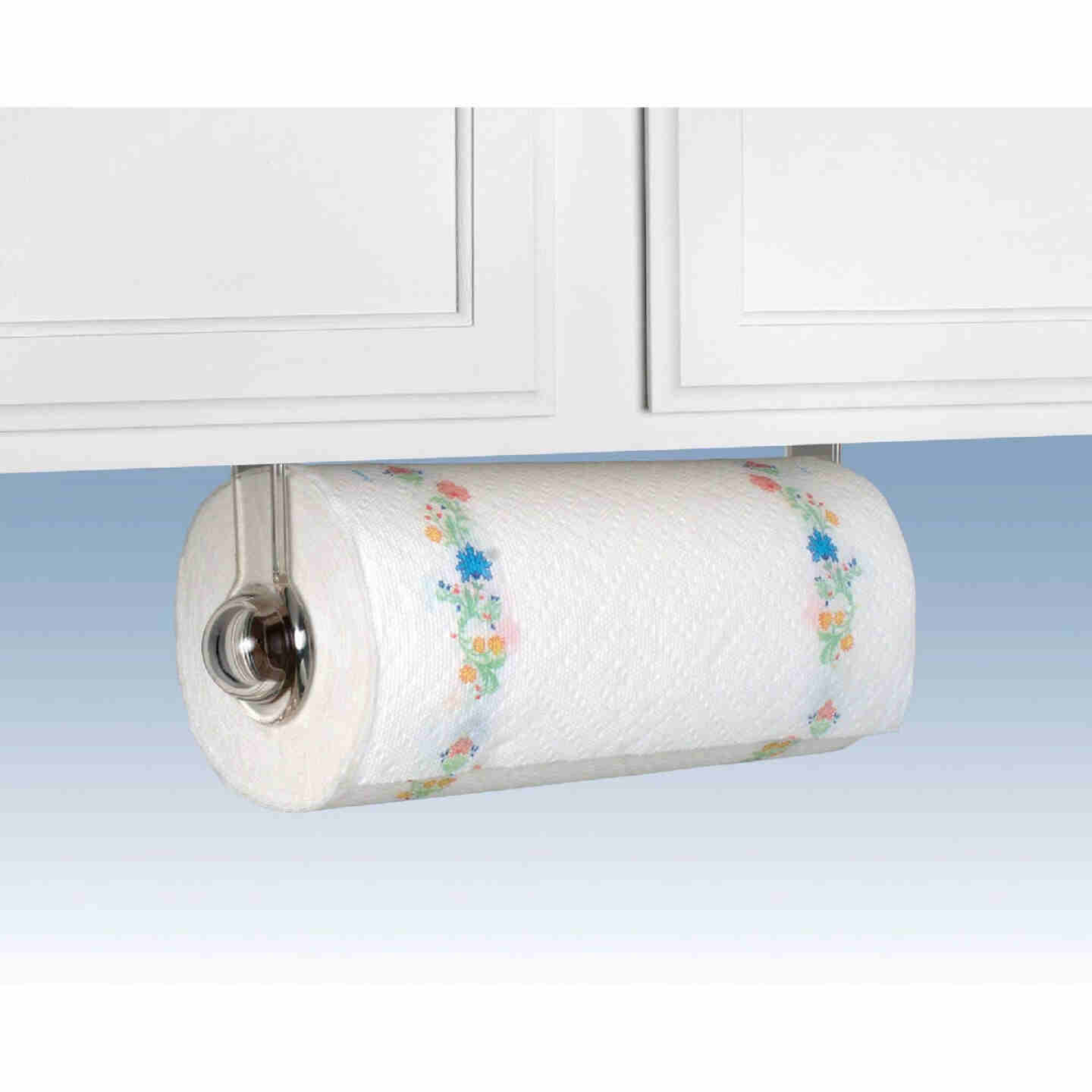 Spectrum Clear Plastic Wall or Cabinet Mount Paper Towel Holder Image 1